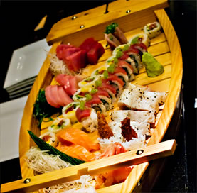 Our signature sushi boat